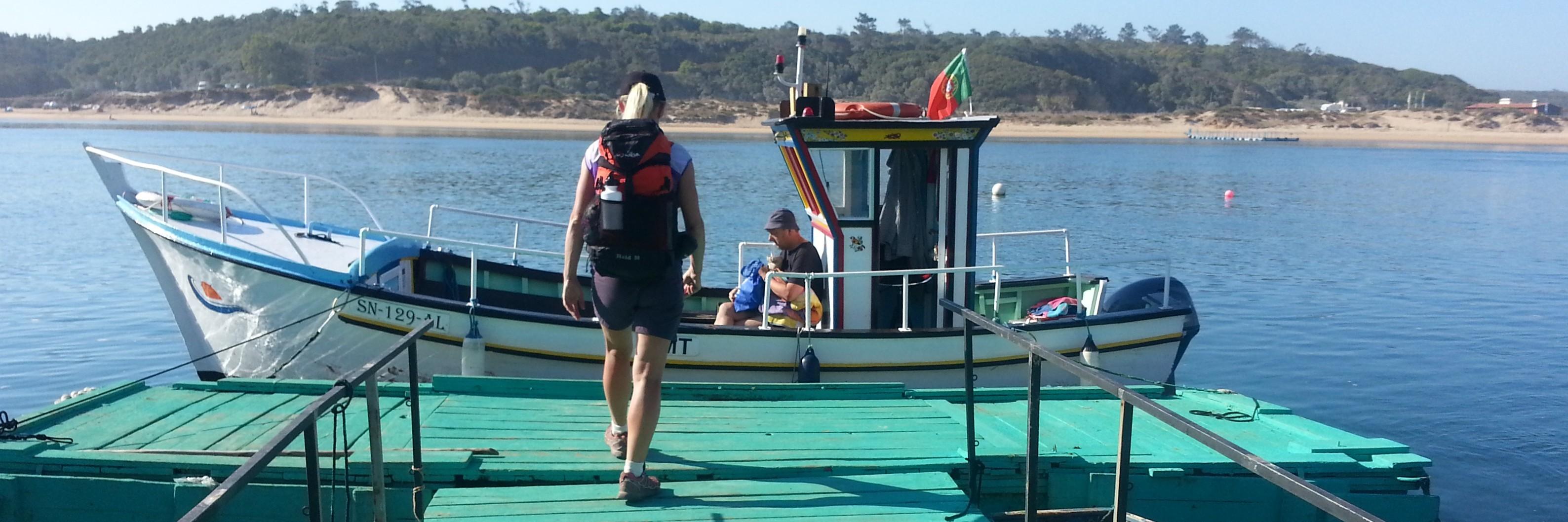 Le ferry de Vila Nova de Milfontes