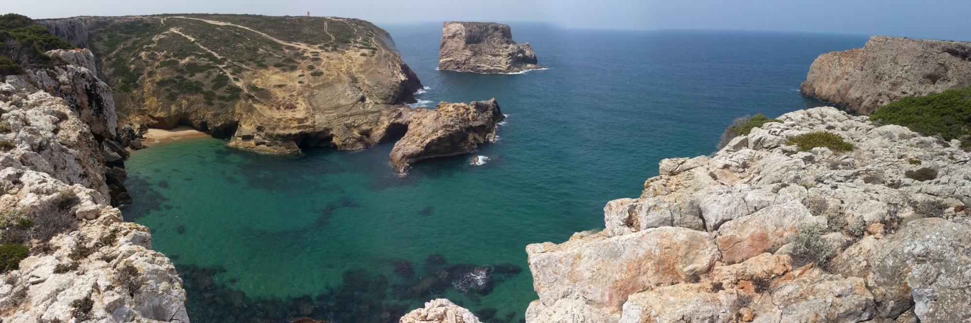 La dernière crique de la Rota Vicentina avant Cabo Sao Vicente