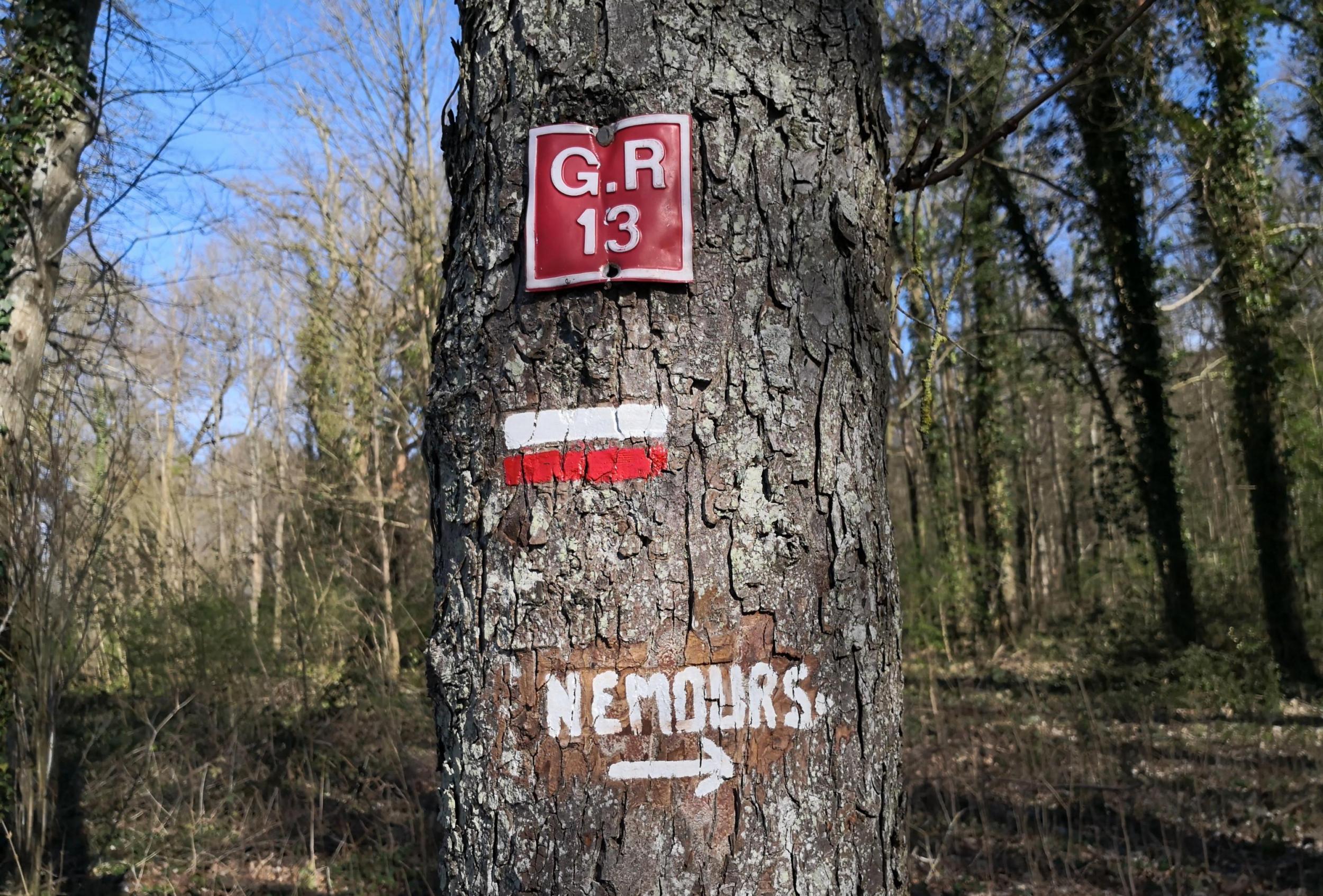 GR13 on arrive à Nemours